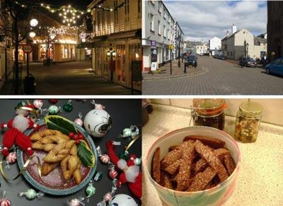 zdjęcia wykorzystane w badaniu, przedstawiające bożonarodzeniowe ozdoby świąteczne