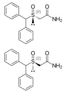 struktury chemiczne s-modafinilu i armodafinilu
