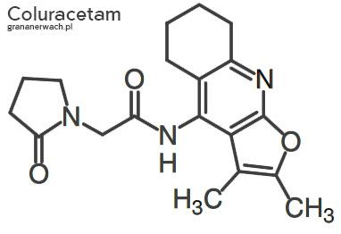 Struktura coluracetamu - leku nootropowego
