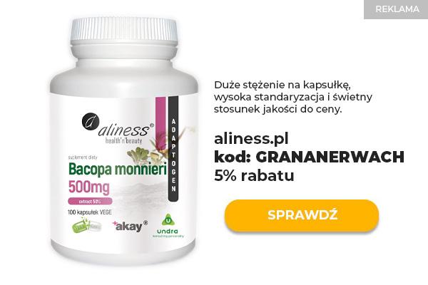 Aliness Bacopa Monnieri 500 mg 100 kaps ekstrakt w kapsułkach
