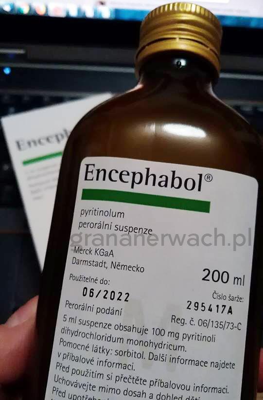 Merck Encephabol 200 ml pyritinol - Butelka z syropem, Lek nootropowy