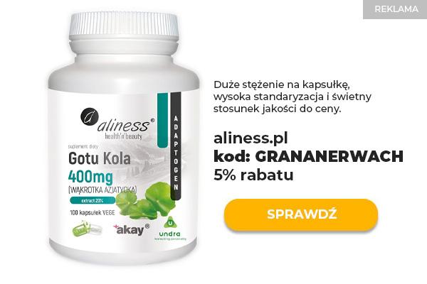 Aliness Gotu Kola 400mg 100 kaps ekstrakt w kapsułkach