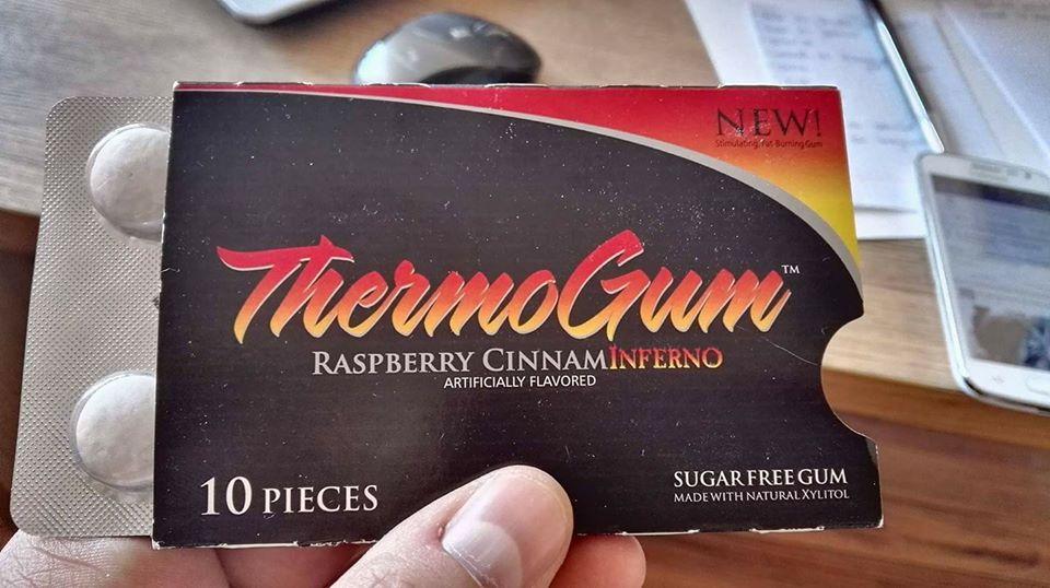 thermo gum - guma do żucia z kofeiną i geranium