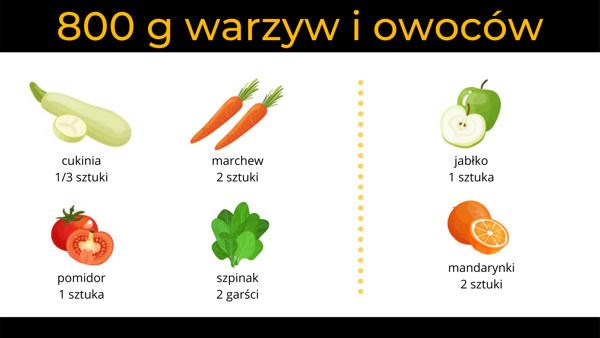 800 g warzyw i owoców - opt
