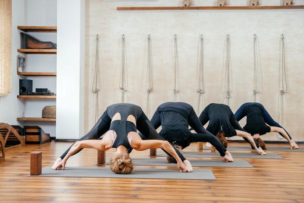 zajęcia grupowe w studio jogi