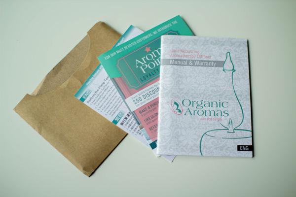 dyfuzor nebulizujący do aromaterapii Organic Aromas - instrukcje i dokumenty