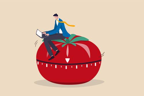 pomodoro timer - czasomierz kuchenny w kształcie pomidora